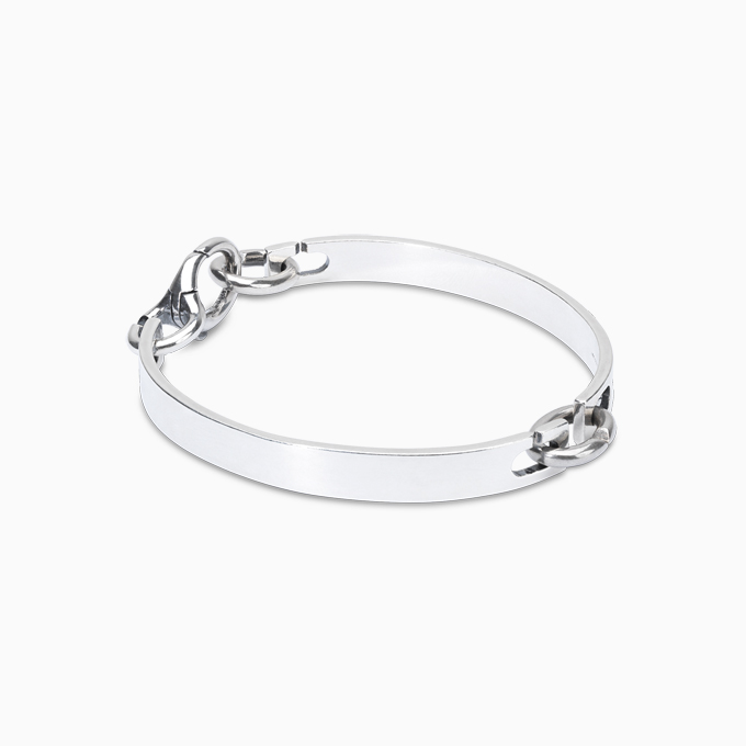 Twice as Nice Silver Bangle Bracelet