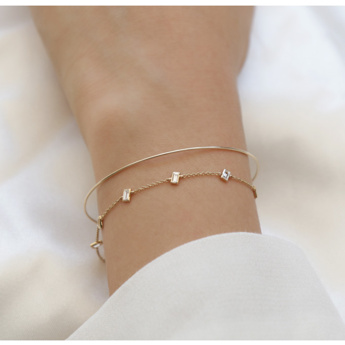 [Purple LABEL #19] 18K Minimal Tepa Diamond Bracelet