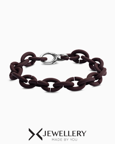 [X Jewellery] Brown Silver Bracelet