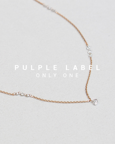 [Purple LABEL #13] Total 0.7ct Hole Diamond 18K Necklace