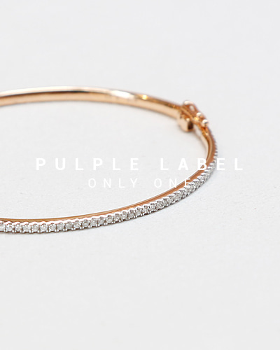 [Purple LABEL #13] Diamond 18K Bangle