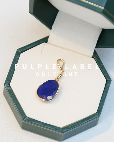 [Purple LABEL #14] Lapis Lazuli Diamond 18K Pendant