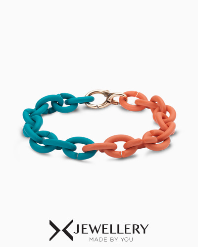 [X Jewellery] Turquoise Apricot Rubber Bracelet