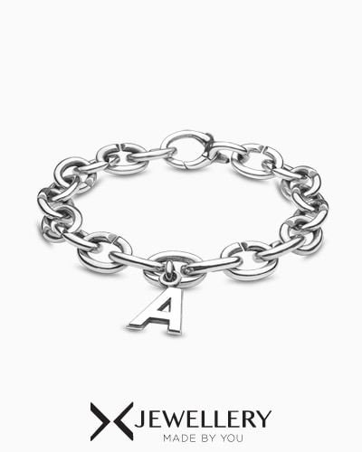 [X Jewellery] ABC Basic Silver Bracelet
