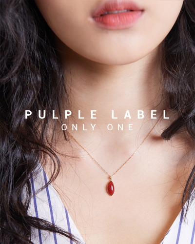 [Purple LABEL #15] Coral Diamond 18K Necklace