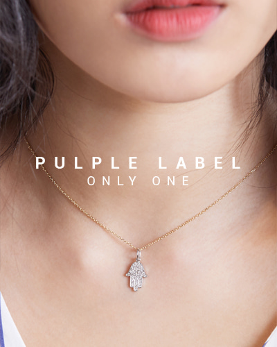 [Purple LABEL #15] Diamond Hamsa 18K Pendant