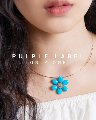 [Purple LABEL #15] Flower Turquoise diamond 18K Pendant