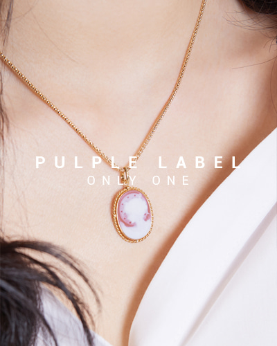 [Purple LABEL #15] 18K Twist Agate Cameo Pendant