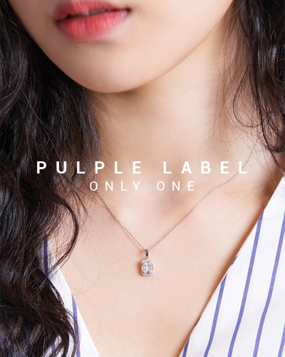 [Purple LABEL #15] Baguette Cut Diamond 18K Pendant