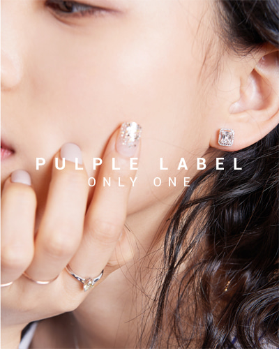 [Purple LABEL #15] Baguette Cut Diamond 18K Earrings