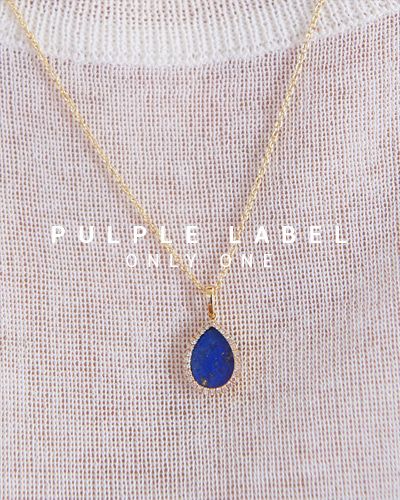 [Purple LABEL #16] Bell Lapis Lazuli Diamond 18K Pendant