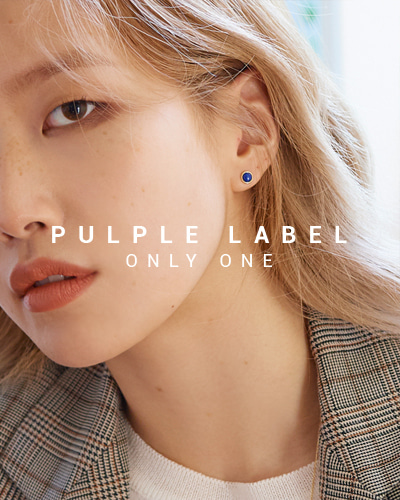 [Purple LABEL #16] Simple Bezel Lapis Lazuli 14K Earrings