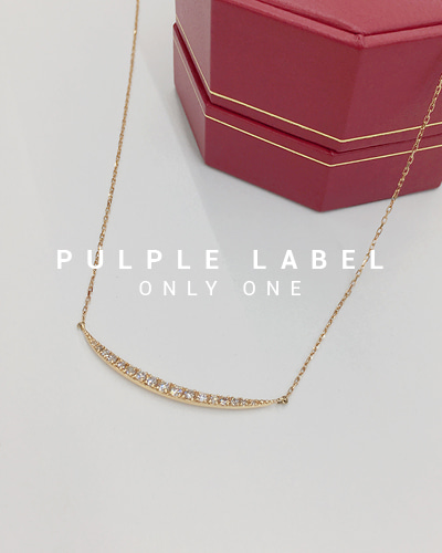 [Purple LABEL #18] 18K Moon Line Diamond Necklace