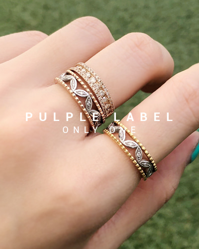 [Purple LABEL #18] 18K Triple Lace Diamond Ring