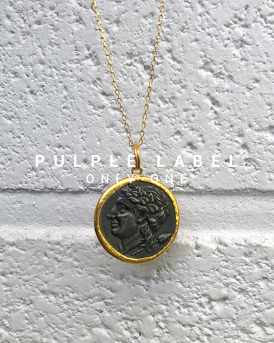 [Purple LABEL #18] 24K + Silver Alexandro Coin Pendant