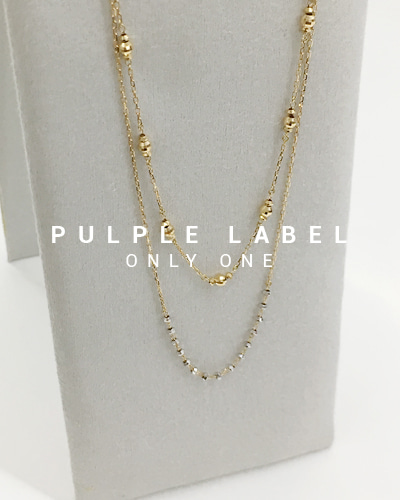 [Purple LABEL #18] 18K Beads Mirror ball Necklace
