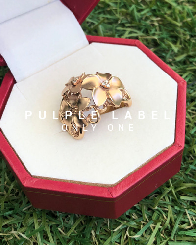 [Purple LABEL #18] 18K Rose Garden Diamond Ring