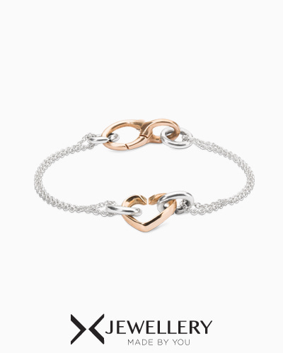 [X Jewellery] Petite chain my heart bracelet