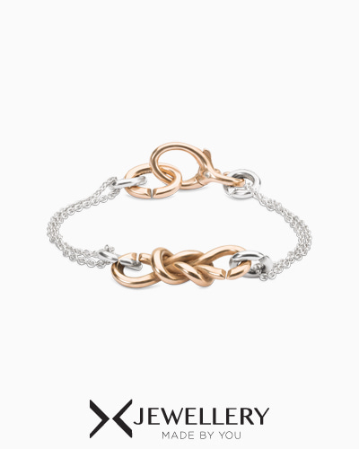 [X Jewellery] Petite chain bond bronze bracelet