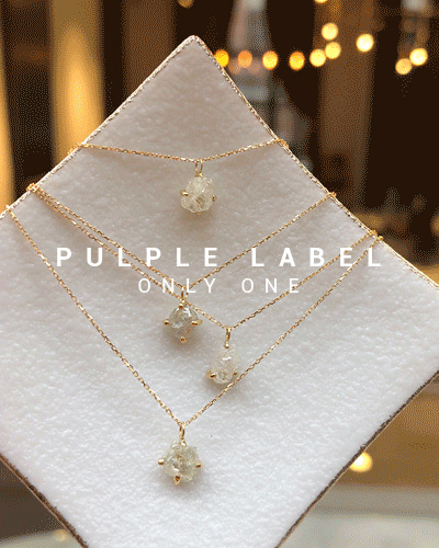 [Purple LABEL #17] Natural Rough Diamond Necklace - your selection. ver2