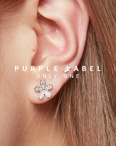 [Purple LABEL #19] 18K Diamond Flower Earrings