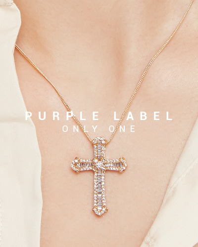 [Purple LABEL #19] 18K Awesome Diamond Cross Pendant (체인별도)