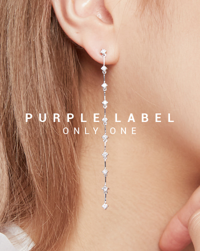 [Purple LABEL #19] 18K Wonderful Diamond Earrings (18K White gold)