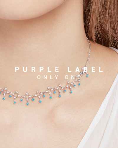 [Purple LABEL #19] 18K Paradise Diamond & Turquoise Necklace