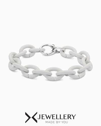 [X Jewellery] Pale Grey Silver Bracelet