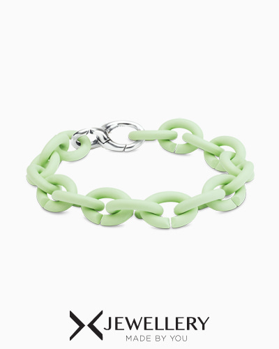 [X Jewellery] Mint Green Silver Bracelet