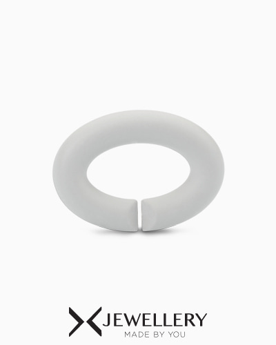 [X Jewellery] Pale Grey, Rubber X