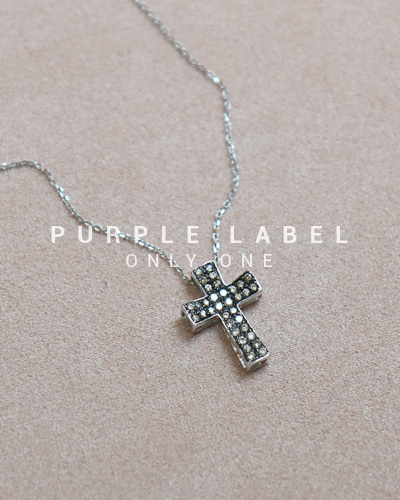 [Purple LABEL #20]18K Koar Diamond Cross Pendant (체인별도)