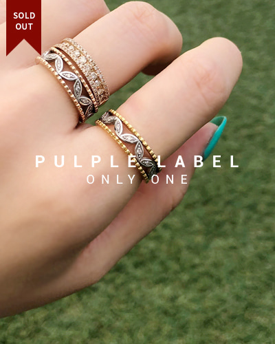 [Purple LABEL #18] 18K Bubble & Leaf Diamond Ring