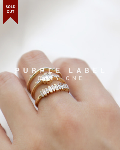[Purple LABEL #19] 18K Taro Tepa Diamond Ring