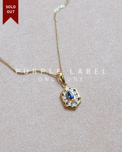 [Purple LABEL #20] 18K The Park Sapphire Diamond Pendant (체인별도)